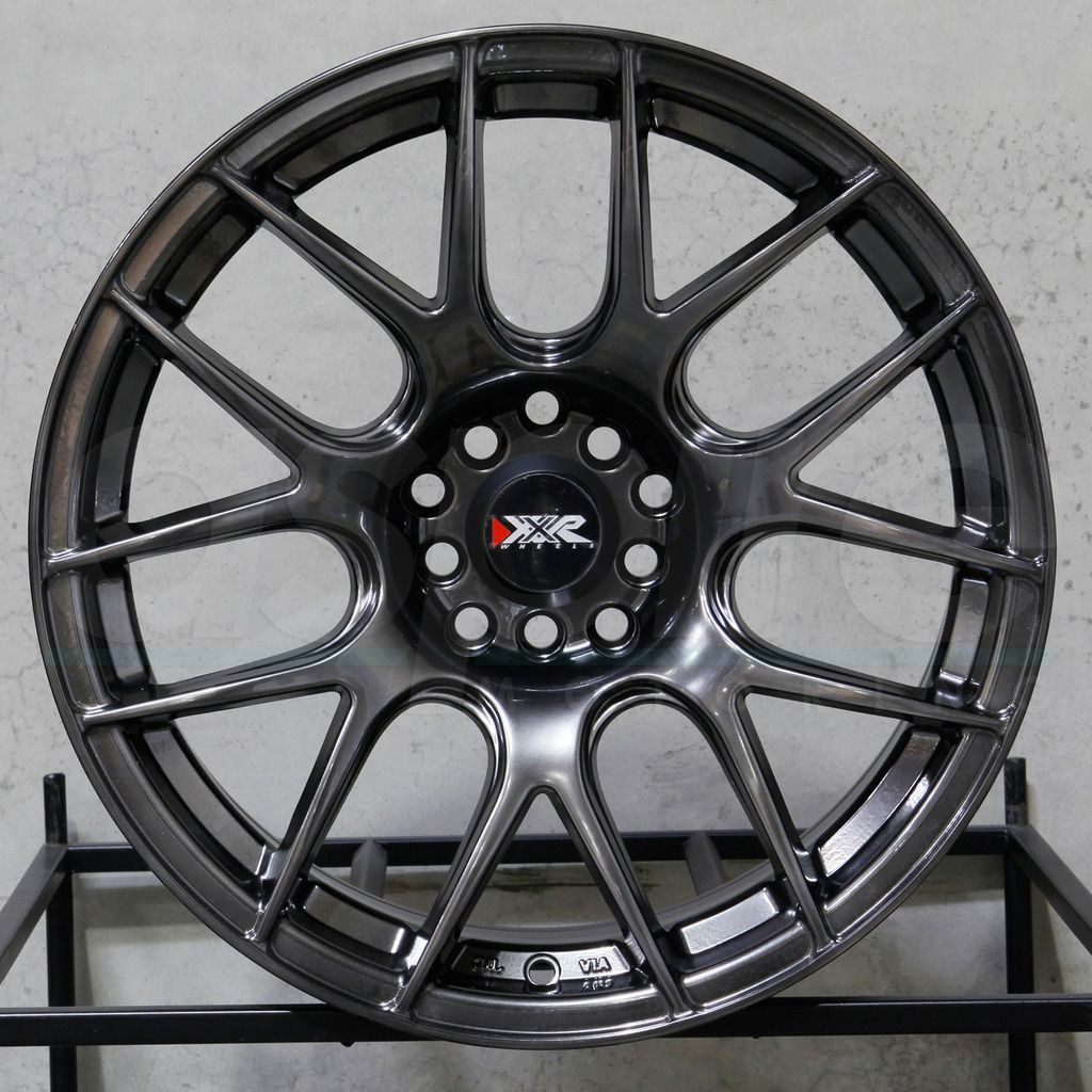 One 17X8.25 XXR 530 4x100//114.3 25 Chromium Black Wheel